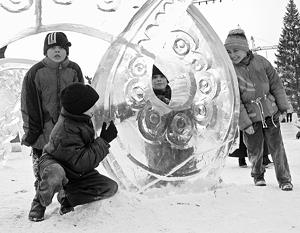 Девочка погибла в ледяной скульптуре под Красноярском