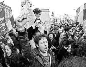Во время акции против однополых браков в Париже применили слезоточивый газ