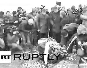Со дна озера Чебаркуль подняли осколок метеорита весом 570 кг
