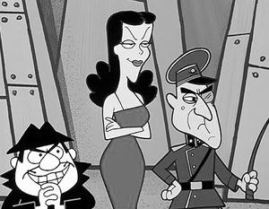 Борис Баденов, Наташа Фаталь и Бесстрашный Лидер - ударный отряд Поттсильвании