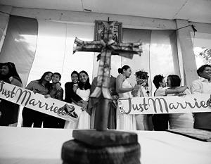 Католическая церковь пока еще не признает однополые браки