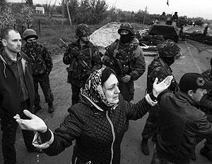 Жители Славянска заблокировали колонны украинской военной техники