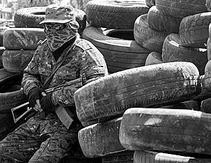 Украинские военные расстреляли блокпост в Константиновке
