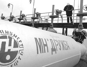 В 2006 году через Белоруссию транзитом прошло 78,7 млн тонн российской нефти