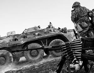 Ополченцы ДНР захватили БТР нацгвардии на границе с Россией