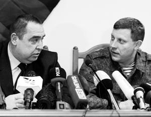Александр Захарченко и Игорь Плотницкий - по примеру Богдана Хмельницкого - призвали свои народы к слиянию с Россией