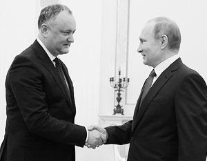 Додон и Путин объявили о восстановлении «стратегического партнерства» Молдавии и России