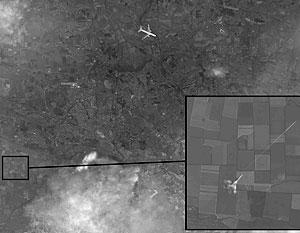Снимок со спутника, фиксирующий выстрел Су-25 по малайзийскому «Боингу» 17 июля