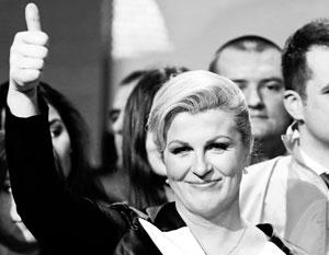 Колинда Грабар-Китарович обошла на выборах действующего президента Йосиповича