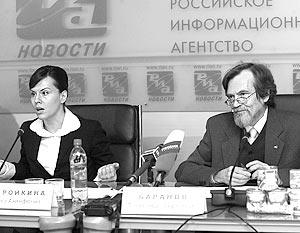 Президент Общенациональной ассоциации генетической безопасности (ОАГБ) Александр Баранов и директор ОАГБ Елена Шаройкина
