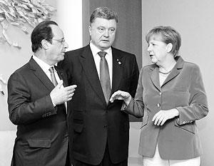 Порошенко меркель и олланд обсудили