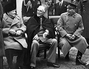 В феврале 1945-го в Ялту к Сталину приехали два руководителя англосаксонского мира