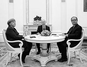 Путин меркель и олланд сделали паузу