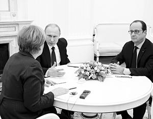 Судьбу Европы решают три человека: Путин, Меркель и Олланд