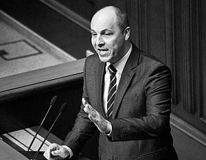 Парубий: Новые законы предусматривают полный контроль Киева над Донбассом