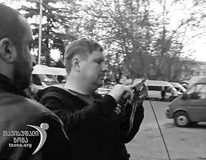 Уничтожение «оккупационных лент» засняли на видео