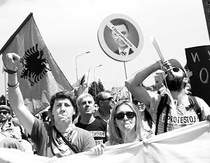 У акций протеста в Киеве и Скопье есть много общего