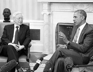 Общение Обамы и вьетнамского генсека Нгуен Фу Чонга уже окрестили историческим событием