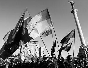 Накануне в центре Киева собрались более трех тысяч радикалов «Правого сектора»