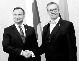 Анджей Дуда и Тоомас Ильвес призывают НАТО усилить влияние в Восточной и Центральной Европе