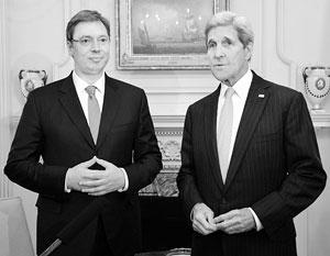 Переговоры Александра Вучича и Джона Керри стали демонстрацией разных векторов сербской политики