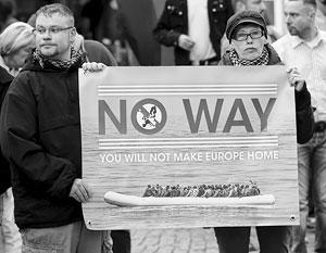 Противников мигрантов в Германии причислили к расистам
