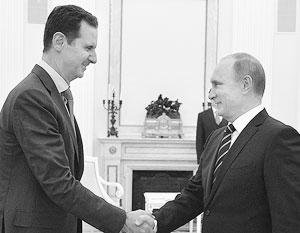 Путин и Асад не виделись с 2006 года