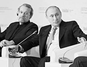 Владимир Путин и спикер иранского парламента Али Лариджани