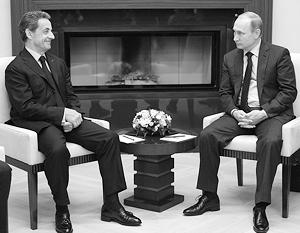 Путин с бывшим и вероятным будущим президентом Франции