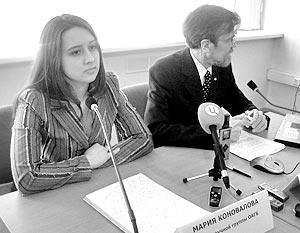 В понедельник перед журналистами все-таки выступила Мария Коновалова, молодой инженер-биотехнолог, аспирант Саратовского аграрного университета