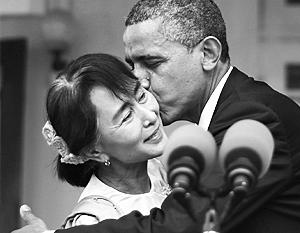 Вскоре после своего освобождения пять лет назад Аун Сан Су Чжи встретилась с Обамой