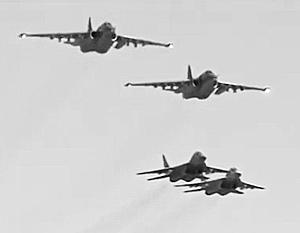 Совместный боевой вылет сирийских истребителей МиГ-29 и российских штурмовиков Су-25 далеко не первый случай совместных боевых действий