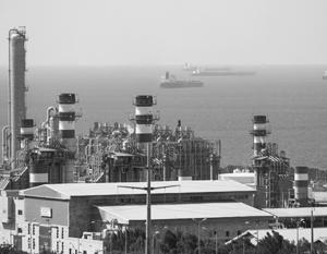 Иранское газовое месторождение Южный Парс, расположенное в Персидском заливе к северо-востоку от Катара