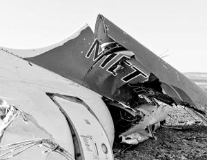После взрыва самолет развалился в воздухе