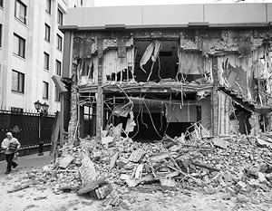 В столице за ночь снесли большую часть зданий, признанных самостроем