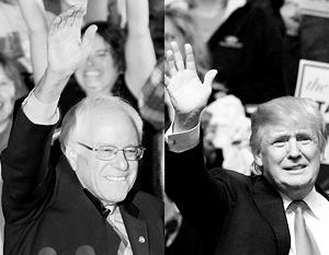 Трамп и Сандерс оставили существенно позади своих главных конкурентов