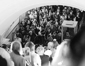 В московской подземке в среду утром было не протолкнуться