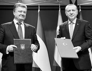 Порошенко и Эрдоган сошлись на нелюбви к России