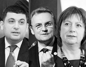 На смену Яценюку могут прийти Владимир Гройсман, Андрей Садовый или Наталья Яресько