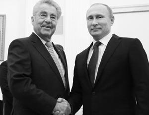 «Австрия, естественно, заинтересована в хороших отношениях ЕС и России», – сказал австрийский федеральный президент Хайнц Фишер по итогам встречи с Владимиром Путиным