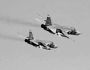 Российские бомбардировщики действовали в паре