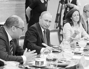 Отток капитала сократился чуть ли не в девять раз, заметил президент, объясняя западной аудитории выгоду сотрудничества с Россией