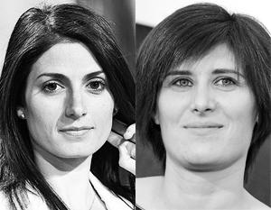Ключевые города Италии возглавили ставленницы «несистемной оппозиции» Вирджиния Раджи (слева) и Кьяра Аппендино