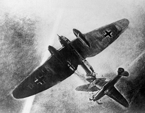 В ночь на 7 августа 1941 года в небе над Подольском младший лейтенант Виктор Талалихин совершил один из первых ночных таранов
