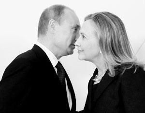 Клинтон слушает Путина