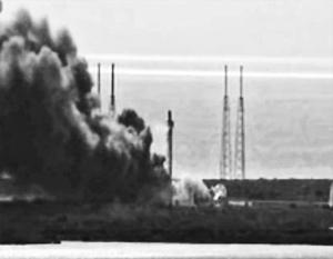 Ракета Falcon 9 взорвалась при тестовых испытаниях