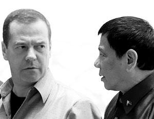 Дмитрий Медведев и Родриго Дутерте встретились 8 сентября этого года в столице Лаоса