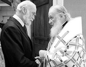 Патриарх Кирилл с принцем Майклом Кентским, двоюродным братом королевы, масоном и кавалером ордена Дружбы