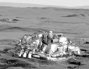 Так спускаемый модуль мог бы выглядеть после посадки на Красной планете