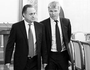 Вице-премьер Виталий Мутко и министр спорта Павел Колобков